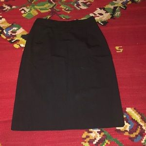 Theory black pencil skirt
